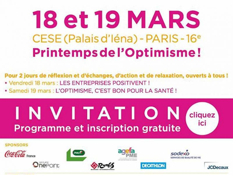 RDV au printemps de l'optimisme